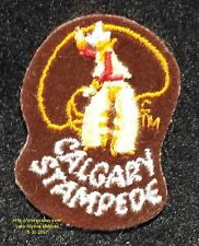 LMH PATCH Badge  CALGARY RODEO STAMPEDE  Cowboy Horse Broco Riding Busting Lasso