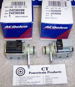4L80E 4L85E New OEM 1-2  3-4 A & 2-3 B Shift Solenoid 2 Piece Kit AC Delco 91-On