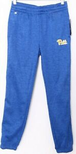 NEW Pittsburgh Pitt Panthers Colosseum Blue Stretch Sweatpants Youth M 12-14