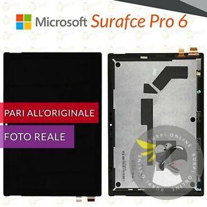 DISPLAY MICROSOFT SURFACE PRO 6 1807 LCD + TOUCH SCREEN VETRO SCHERMO NERO