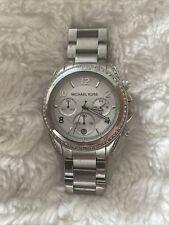 Michael Kors MK5165 Ladies Blair Chronograph Watch - Silver - NEEDS NEW BATTERY