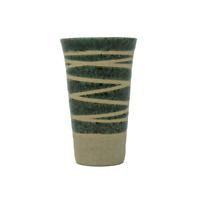 Japanese Midori Green Sazanami Shochu Sake Cup