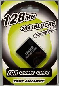 MEMORY CARD FOR NINTENDO GAMECUBE & NINTENDO Wii 2043 BLOCKS 128MB BRAND NEW