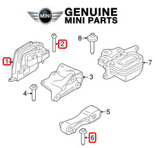 NEW For Mini Cooper 1.5 L3 Engine Mount and Engine Mount Bolts Genuine Kit