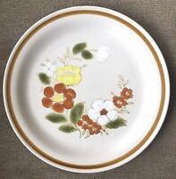 4 VTG Dinner Plates Mountain Wood Collection Trellis Blossom Stoneware Japan