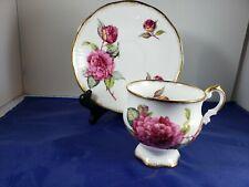 Vintage Royal Crest English Bone China Teacup And Saucer Roses