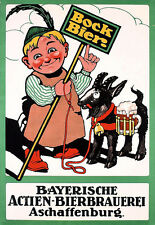 Art Ad German Bock Beer Drink Drinks Bar Pub Deco  Poster Print