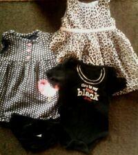 Girls Mixed Lot Size 6- 9 Months - Leopard Print Dress, Floral Romper, One-Piece