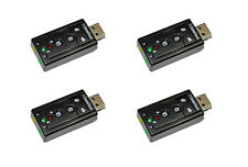 4X USB 2.0 External 7.1 Channel 3D Virtual Stereo Audio Sound Card Adapter 4pcs.