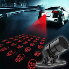 Motorcycle Car Skull Pattern Tail Fog Driving Laser Anti-Collision Rear Light f