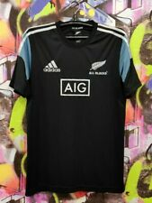 New Zealand All Blacks Rugby Union Shirt Jersey Top Adidas 2014 Mens 42/44