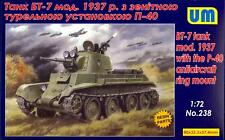 UM-MT Models 1/72 Soviet BT-7 TANK MODEL 1937 with P-40 ANTI-AIRCRAFT RING MOUNT