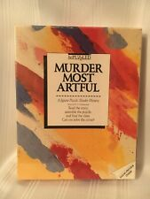 Murder Most Artful Vintage Puzzle 1987 500 Pieces