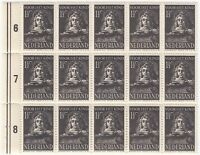 Niederlande 1941 - Königin Wilhelmina - Voor het Kind Satz in 15-er blocks