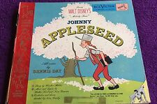 Johnny Appleseed 1949 3 Record Set Voices by Dennis Day Little Nipper Series