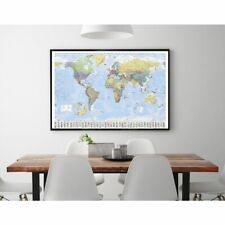 Weltkarte (mit Flaggen) Poster