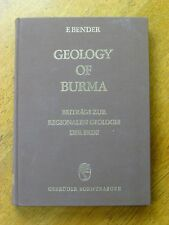 Geology of Burma - Friedrich Bender (Hardback, 1983) 1st edition, RARE