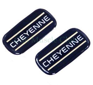 Chevrolet Cheyenne Cab Emblem NEW 2pc Badge Logo Roof Pillar 88-07 Silverado
