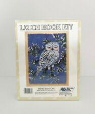 Vintage National Yarn Crafts Latch Hook Kit - R646 Snow Owl, 20x27
