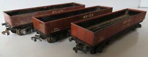 HORNBY DUBLO 3-rail Diecast D1 50T Brick Wagons x 3 (1 for spares, 1 for repair)