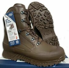 More details for haix mens brown leather high liability combat boots - sizes , british army , new