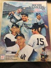 1985 New York Yankees Yearbook - Ruth, Gehrig, DiMaggio, Mantle, Munson, Maris