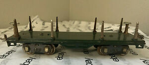 Lionel No. 511 Flat Car Standard Gauge - Tin Plate - Dark Green