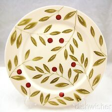 "Crate & Barrel CRANBERRY Dinner Plate(s) 11"" CRAZED"