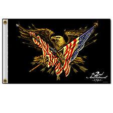 Biker Motorrad Chopper 2nd Amendment Eagle Adler USA Flag Flagge Fahne Banner