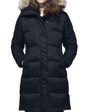 New Canada Goose Authentic 2018 Rowley Fur Trimmed Black Label Nwt Admiral Blue