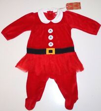 NEXT- MRS SANTA CHRISTMAS TUTU PLAYSUIT SET OUTFIT - BABY GIRL 0-3 MONTHS - NEW