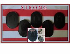 5 MENS STRONG POCKET HAIR BRUSHES TRAVEL COMBS