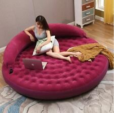 INTEX Round Inflatable Double PVC Air Sofa/Mattress Flocking Lounger Bed