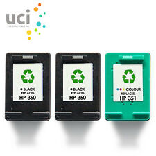3 NonOEM Ink Cartridge For HP 350XL & 351XL Photosmart C5280 C4580 C5200 C4280
