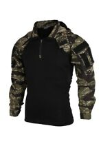 Tactical Training Military Long Sleeve Top Combat Coat Camouflage Suit GST Color