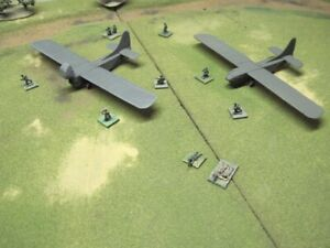 15mm WWII US Waco Glider squadron (5 aircraft )  set # 2