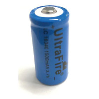 Ultra Size 16340 0.5A 1500mAh 3.7V Rechargeable Lithium Battery
