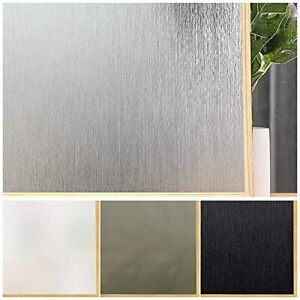 Privacy Window Film No Glue Frosted Glass Sticker for Home Office Static Anti-UV