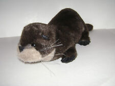 "Folktails Folkmanis 20"" Brown Otter Full Body Hand Puppet Plush Stuffed Rare"