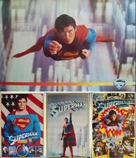 SUPERMAN THE MOVIE set of 4 commercial Posters 23x36 CHRISTOPHER REEVE VERY RARE
