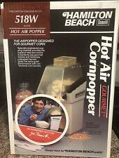 Vintage Hamilton Beach Scovill 518 White Hot Air Popper Brand New Factory Sealed