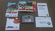 South Park Nintendo 64 N64 Game Complete CIB + Poster