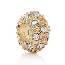 10 Perles Européen Charms Grand Trou(5.1mm) Strass Pour Bracelet Charm 12mm