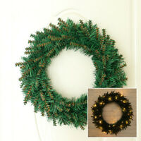 Home Christmas Warm Light Wreath Garland  Door Window Wall Decor Party Supplies