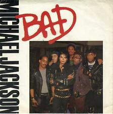MICHAEL JACKSON  Bad / I Can't Help It 45 with PicSleeve