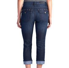 NWT ROCK & REPUBLIC Cropped Capri Skinny Jeans KENDALL Blue Black Women's Cuffed