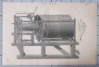 1868 Estampado Chimes Apparatus Música Máquina Lado Elevation Mecanismo