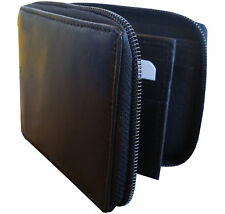 new mens full zip around genuine leather multi card id pocket coins pocket purse