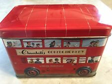Churchill's Of London Double-Decker Bus Confectionery EMPTY Tin