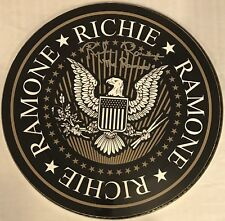 Richie Ramone Signed Drum The Ramones Autographed Logo Custom Art Drumhead